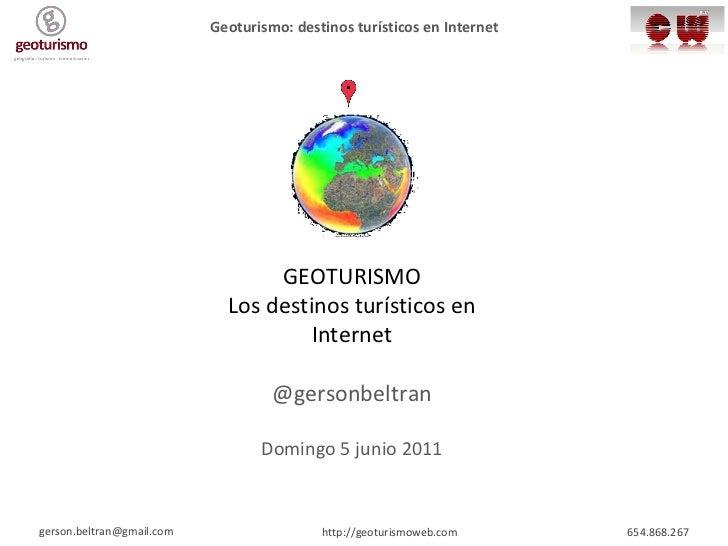 Taller geoturismo (la oferta)