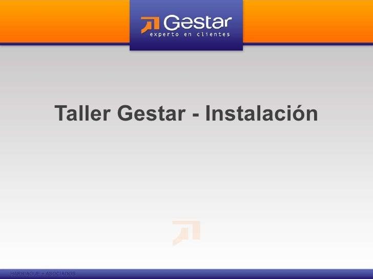 Taller Gestar - Instalación