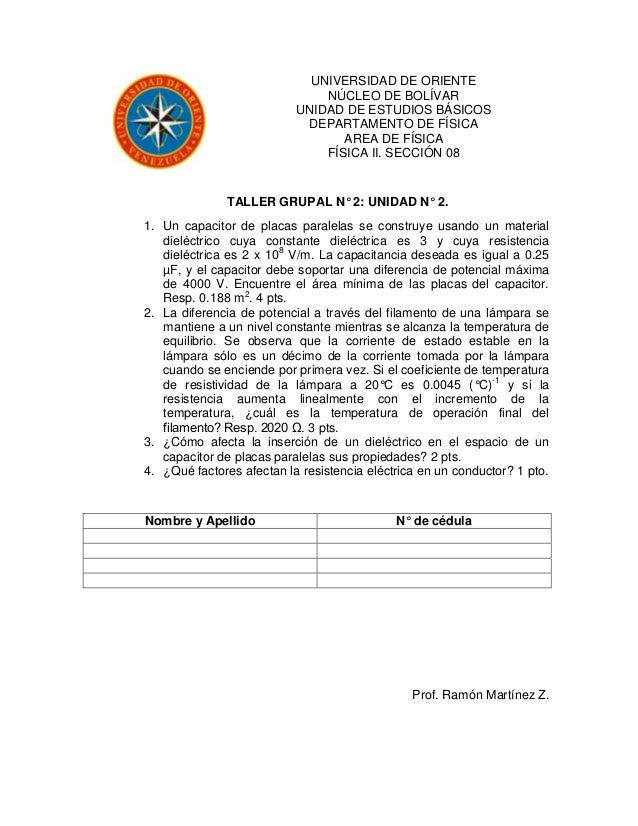 UNIVERSIDAD DE ORIENTE                               NÚCLEO DE BOLÍVAR                           UNIDAD DE ESTUDIOS BÁSICO...
