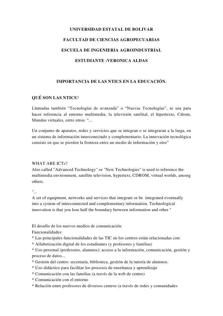 UNIVERSIDAD ESTATAL DE BOLIVAR<br />FACULTAD DE CIENCIAS AGROPECUARIAS<br />ESCUELA DE INGENIERIA AGROINDUSTRIAL<br />ESTU...