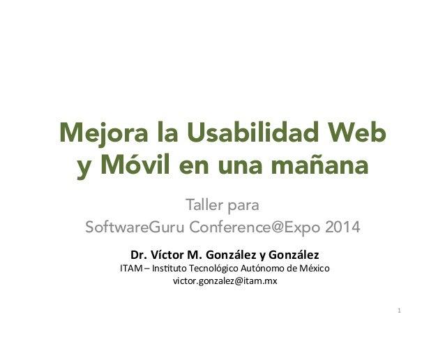 Mejora la Usabilidad Web y Móvil en una mañana