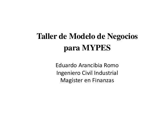 Pedro Espino Vargas y el Taller modelo de_negocios_para_pymes_final