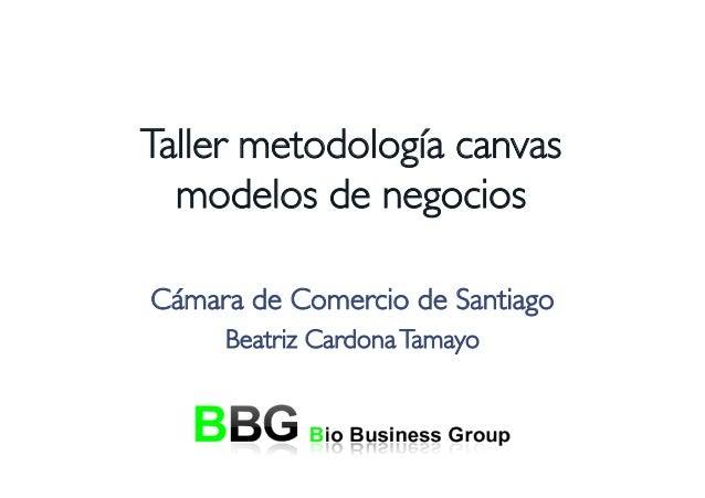 Taller metodología canvasmodelos de negociosCámara de Comercio de SantiagoBeatriz CardonaTamayo