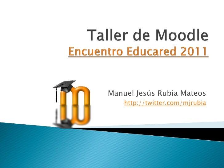 Taller Moodle Congreso Educared 2011