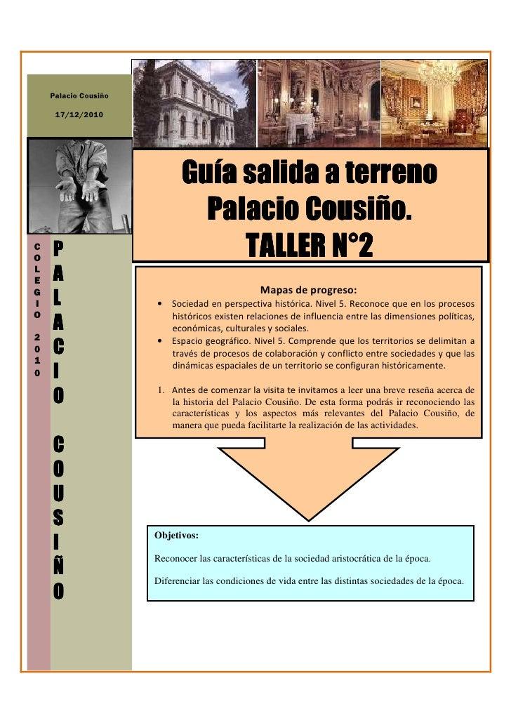 Palacio Cousiño     17/12/2010                             Guía salida a terreno                                       Cou...