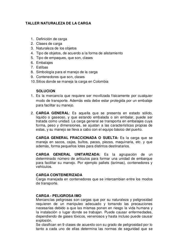 TALLER NATURALEZA DE LA CARGA<br />Definición de carga<br />Clases de carga<br />Naturaleza de los objetos <br />Tipo de o...