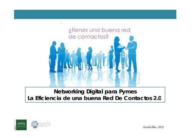 Networking Digital para Pymes La Eficiencia de una buena Red De Contactos 2.0La Eficiencia de una buena Red De Contactos 2...