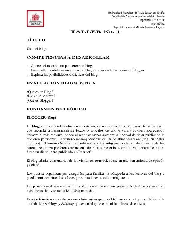 Universidad Francisco de Paula Santander Ocaña                                                          Facultad de Cienci...