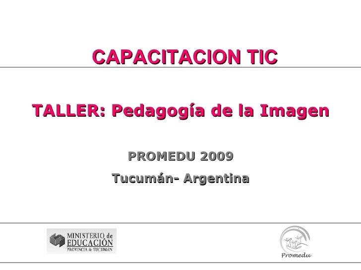 Taller Pedagogia De La Imagen