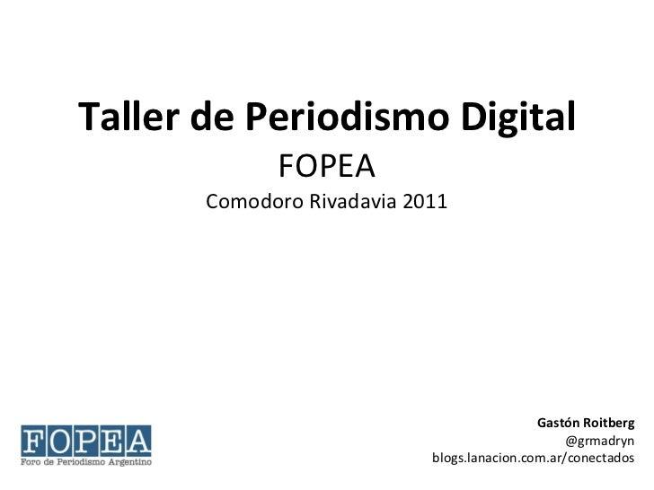 Taller Periodismo Digital