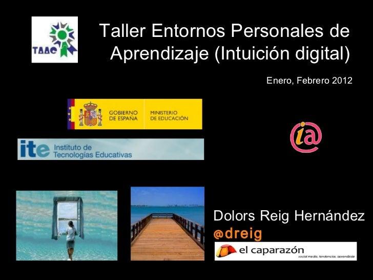 Dolors Reig Hernández @dreig Taller Entornos Personales de Aprendizaje (Intuición digital) Enero, Febrero 2012