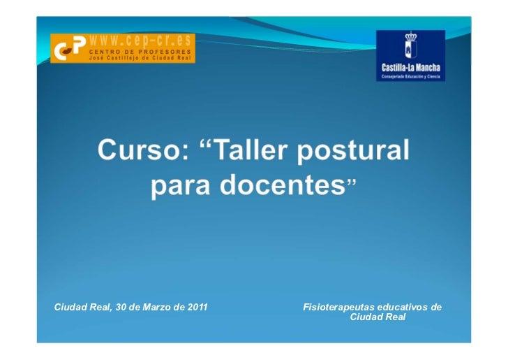 Taller postural para docentes 1