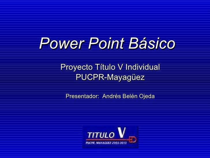 Taller Power Point AndréS BeléN
