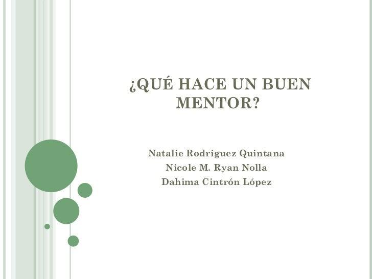 Taller qu hace un buen mentor - Que hace un humidificador ...