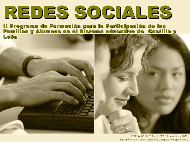 REDES SOCIALES II Programa de Formación para la Participación de las Familias y Alumnos en el Sistema educativo de  Castil...