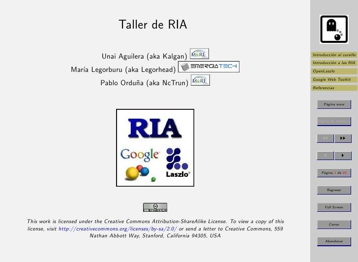 Taller de RIA                                                                                                            I...