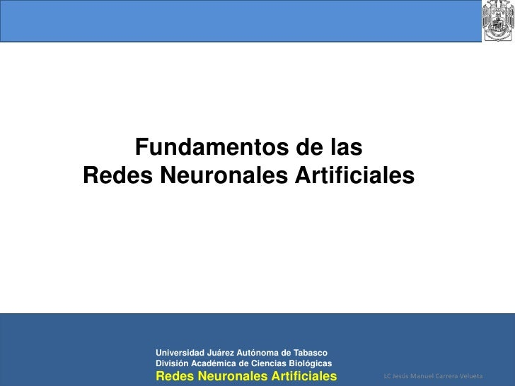 Fundamentos de las Redes Neuronales Artificiales<br />Universidad Juárez Autónoma de Tabasco<br />División Académica de C...