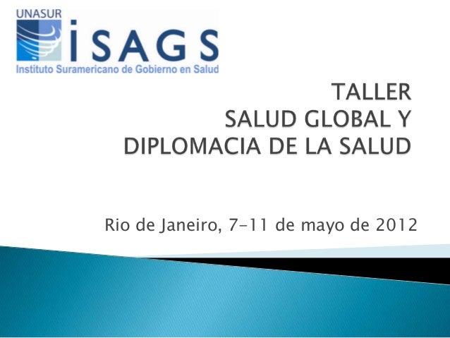 Taller salud global diplomacia apresentacion programa