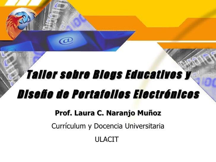 Taller sobre blogs educativos