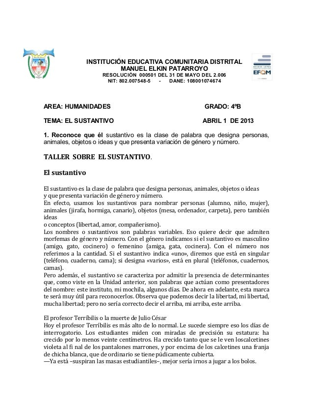 INSTITUCIÓN EDUCATIVA COMUNITARIA DISTRITAL                          MANUEL ELKIN PATARROYO                      RESOLUCIÓ...