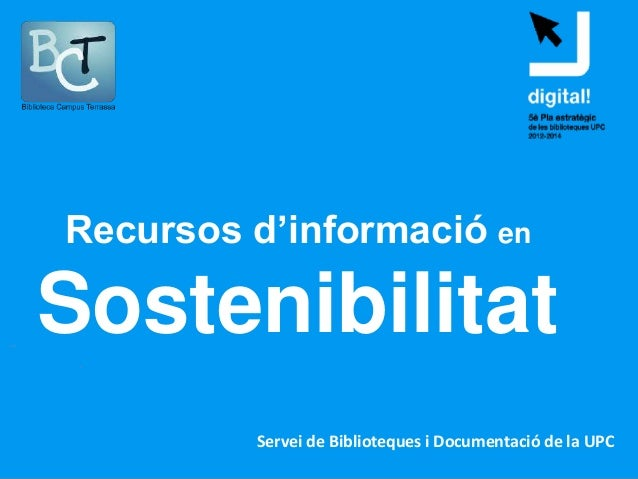 Recursos d'informació en sostenibilitat per a doctorands