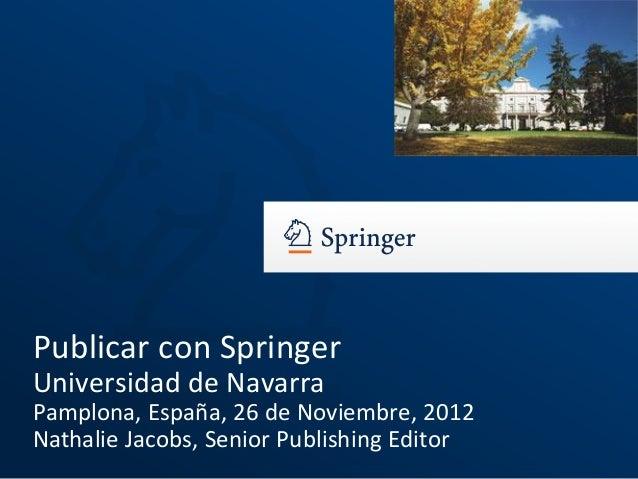 Cómo publicar trabajos de investigación (taller Springer)
