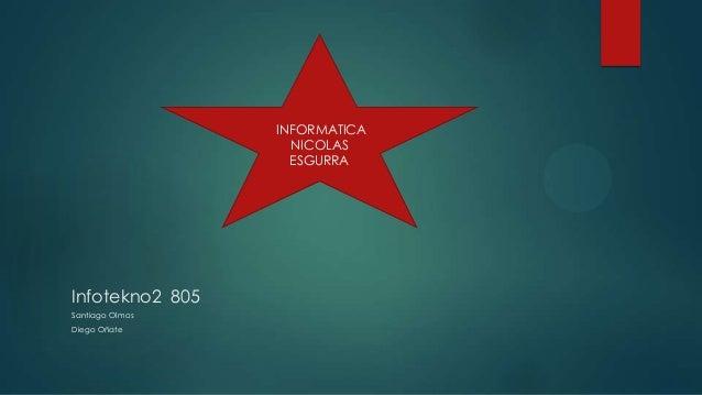 INFORMATICA                   NICOLAS                   ESGURRAInfotekno2 805Santiago OlmosDiego Oñate