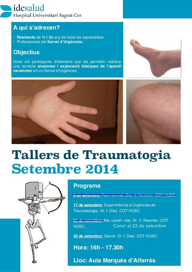 Talleres de exploración en Traumatología de Urgencias (I)