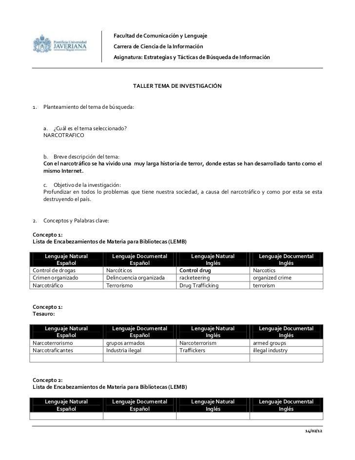 Tallertemadeinvestigacin 120214095113-phpapp01