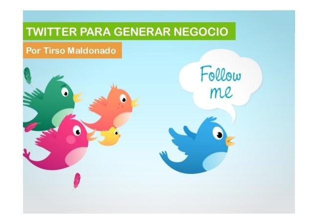 Taller Twitter (manual avanzado)