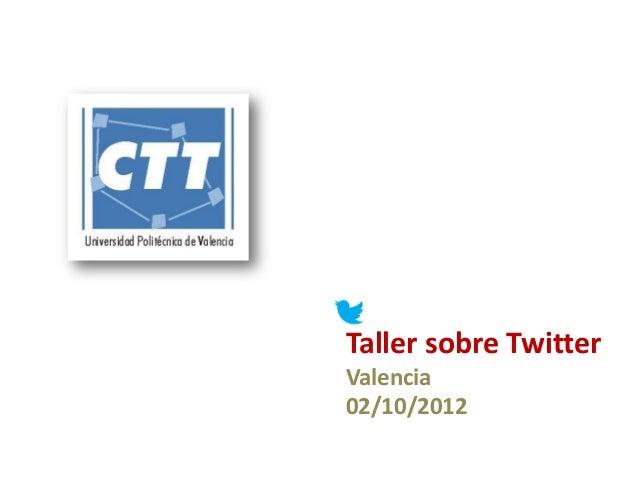 Taller sobre TwitterValencia02/10/2012
