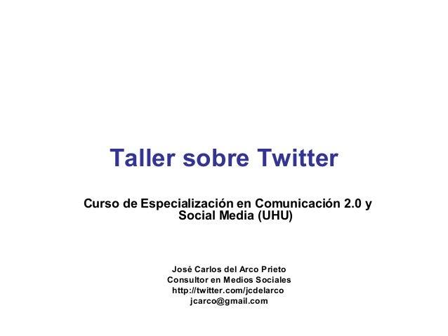 Taller Twitter SMUHU