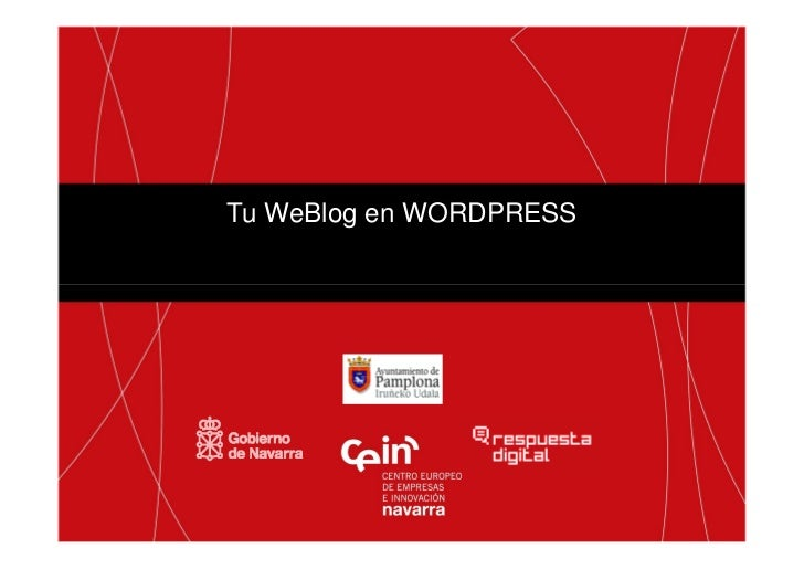 Taller wordpress spe 2012