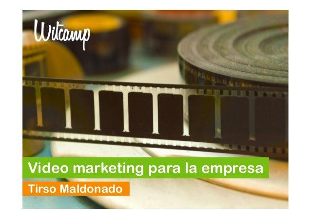 Video marketing para la empresa Tirso Maldonado