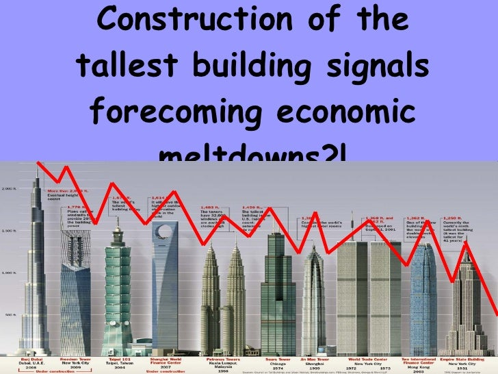 Construction of the tallest building signals forecoming economic meltdowns?!