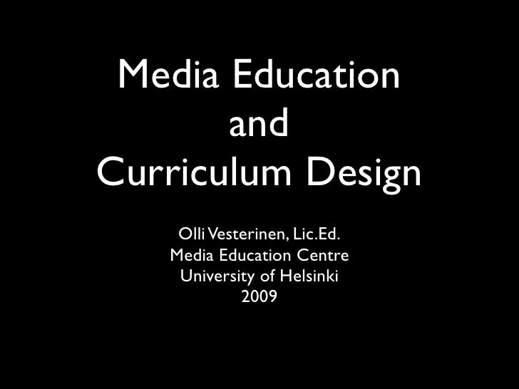 Media Education and Curriculum Design
