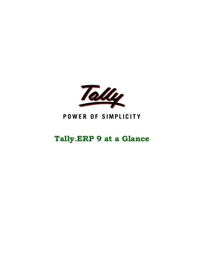 Tally.ERP 9 at a Glance