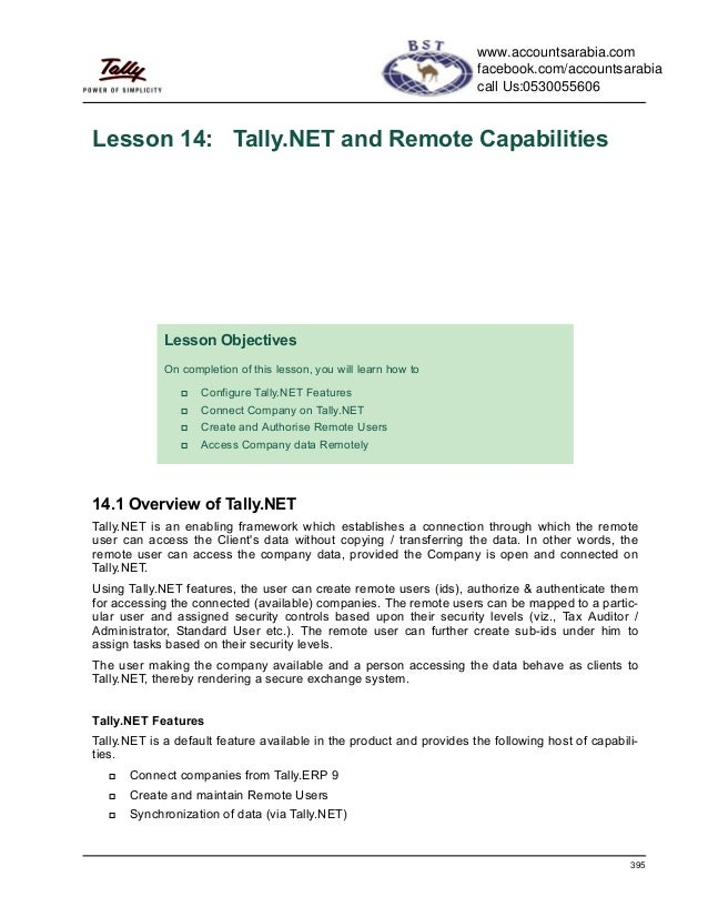 Tally.net and remote capabilities
