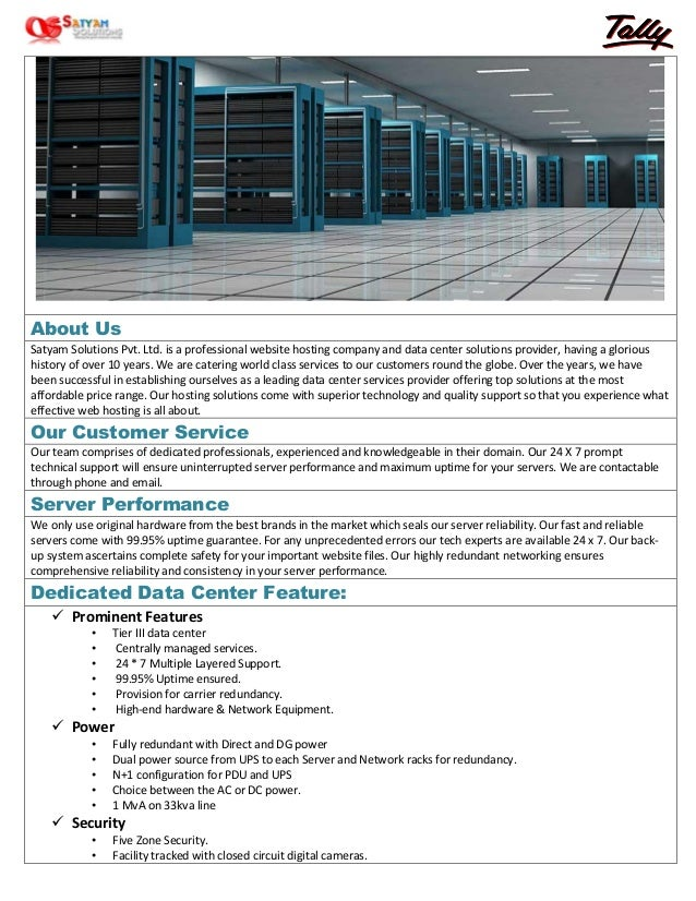 Tally Cloud Server Details