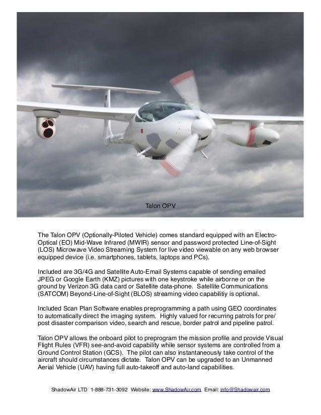 Optionally Piloted Aircraft - TALON-OPV
