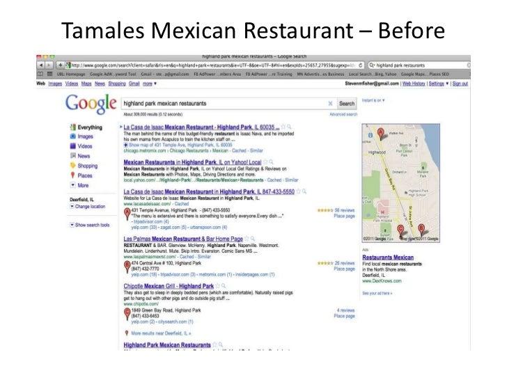 Tamales Restaurant Case Study