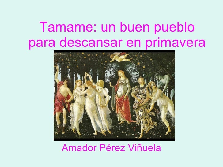 Tamame: un buen pueblo para descansar en primavera Amador Pérez Viñuela