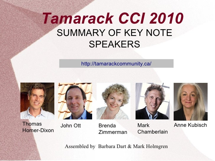 Tamarack 2010 CCI Conference