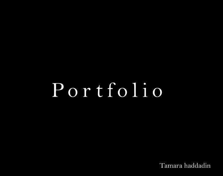Tamara haddadin portfolio
