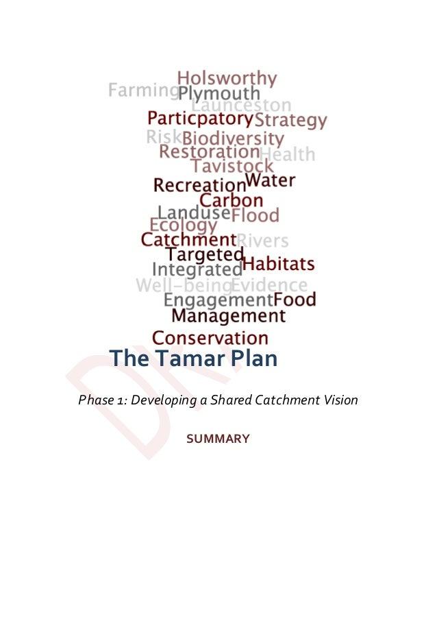 TheTamarPlan  Phase1:DevelopingaSharedCatchmentVision  SUMMARY
