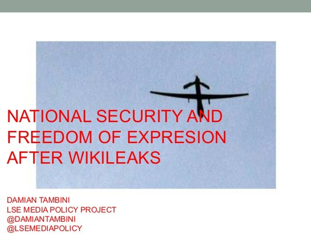 National security and Freedom of expresion after Wikileaks