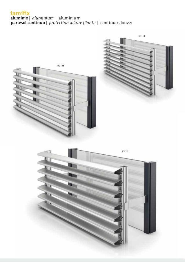 catalogue de brise vue tamifix avec lames fixes filantes en aluminium. Black Bedroom Furniture Sets. Home Design Ideas