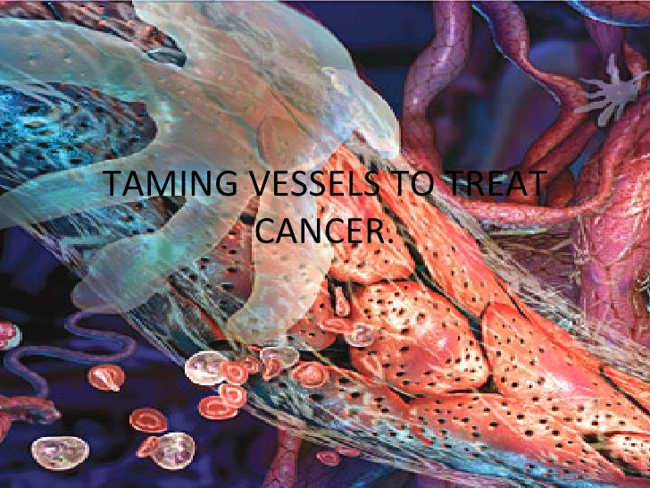 TAMING VESSELS TO TREAT CANCER.