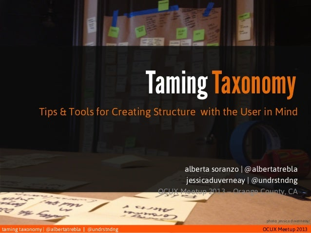 Taming Taxonomy: A Practical Intro