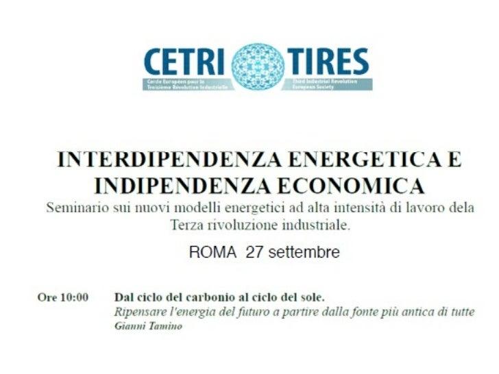 Indipendenza energetica e indipendenza economica